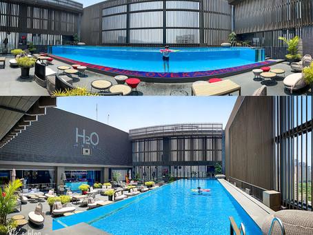 【H2O Hotel】水京棧國際酒店 台灣高雄頂級酒店 頂樓透明泳池 瑞豐夜市 巨蛋站