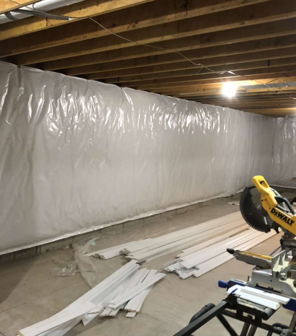 Basement blanket insulation