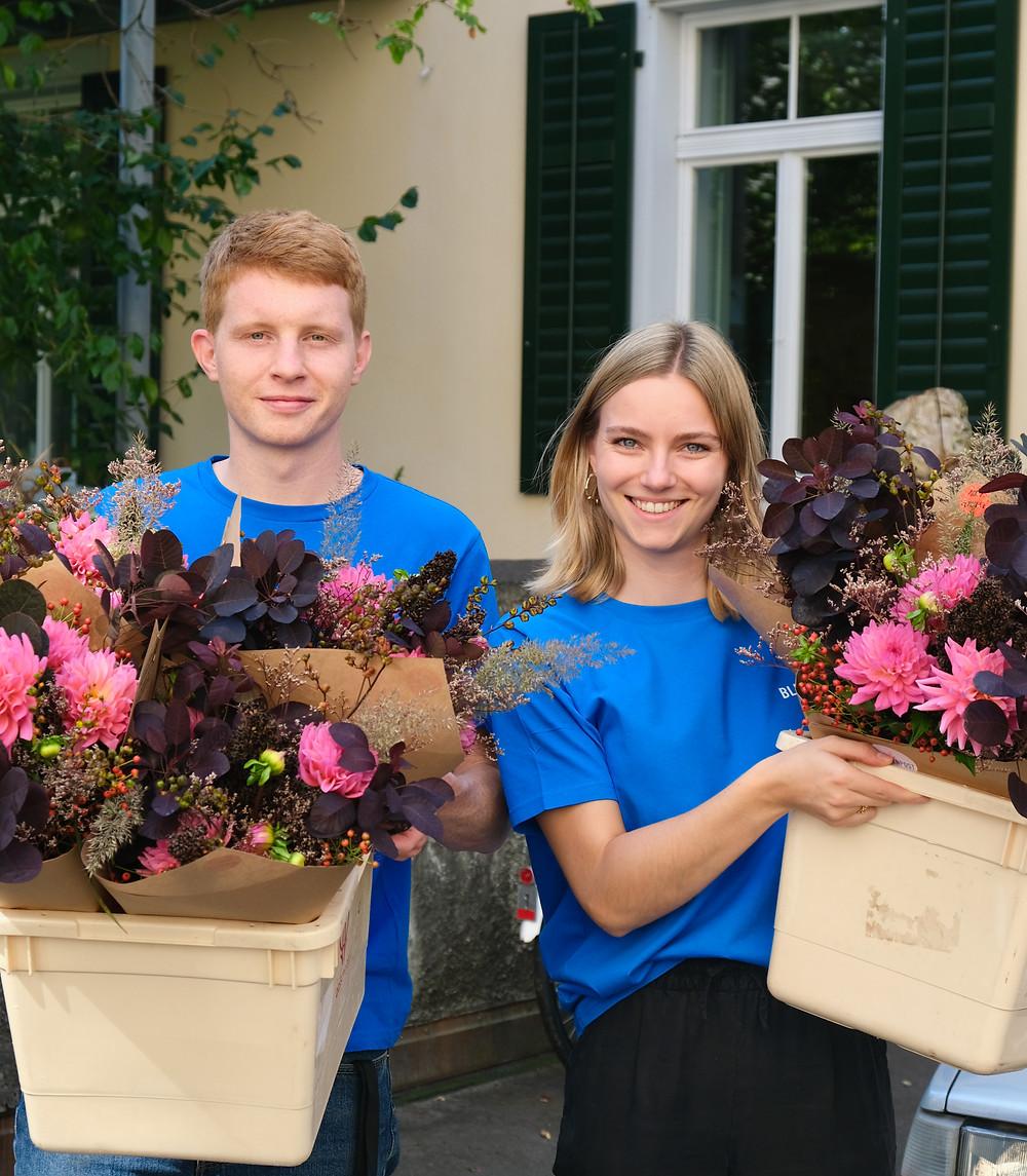 Blumenpost Lieferung Büro Blumenabo Abo Blumen Empfang