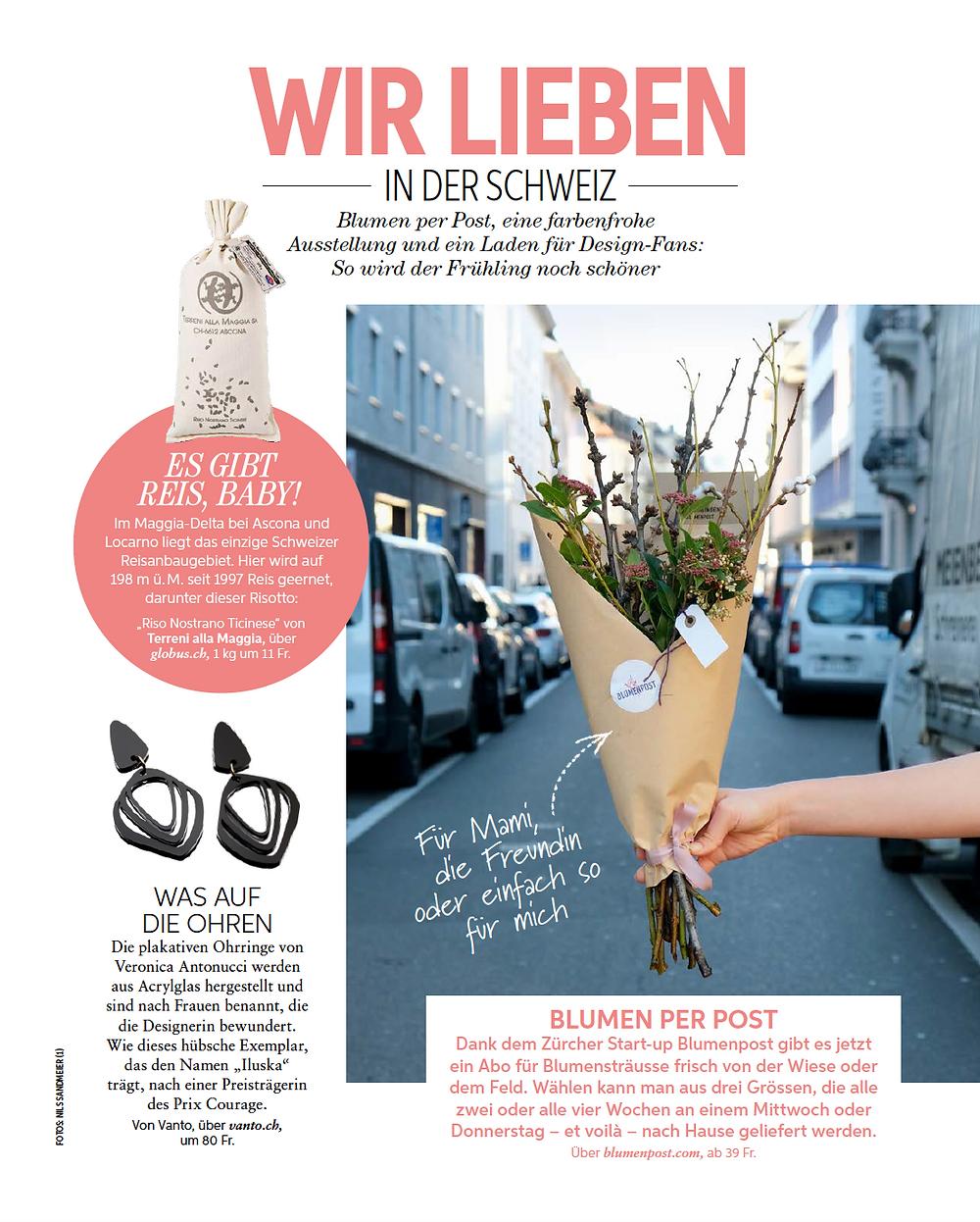 Blumenpost in der Freundin, Magazin, 2020