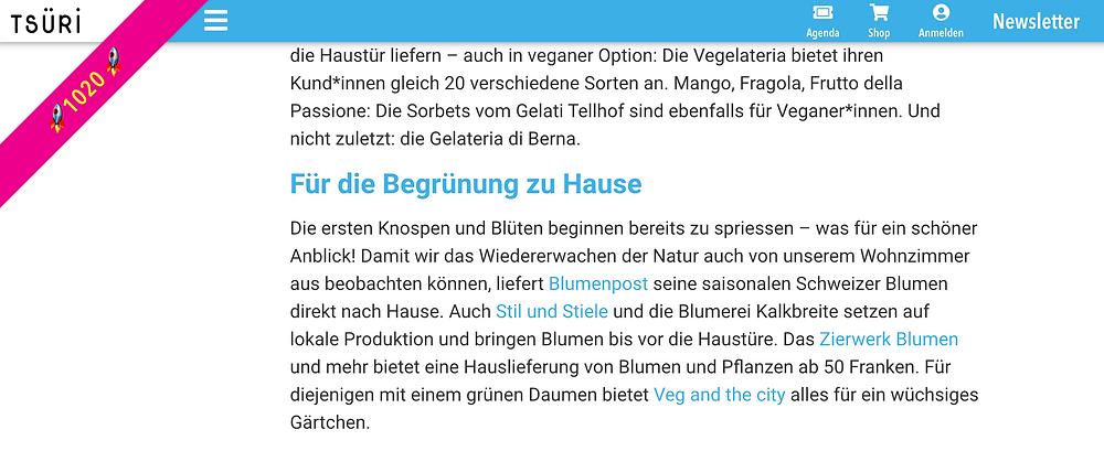 Blumenpost als Tipp von tsri.ch