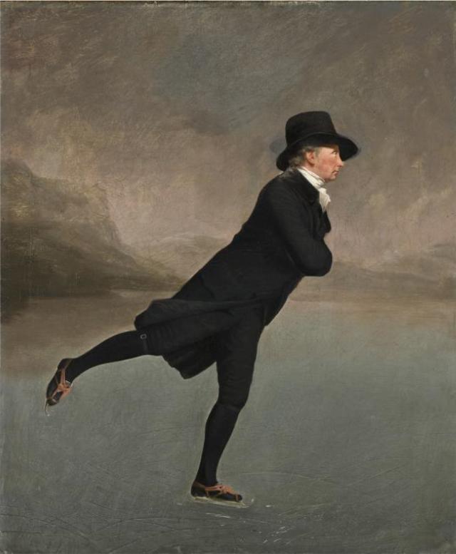 Raeburn, Reverend Robert Walker (1755-1808) Skating on Duddington Loch, 1790's