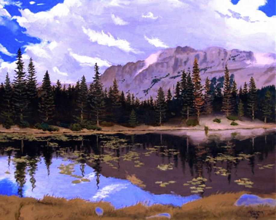 Natural Mountain Lake