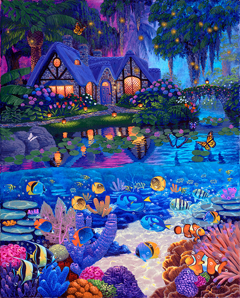 Cottage Garden & Underwater Life