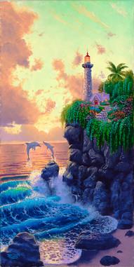 Lighthouse Sunset Fantasy