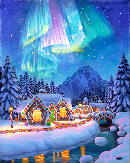 Northern Lights GingerBread Village