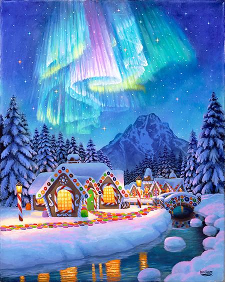 Northern Lights GingerBread Village
