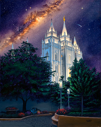 Between Heaven & Earth Salt Lake City Temple