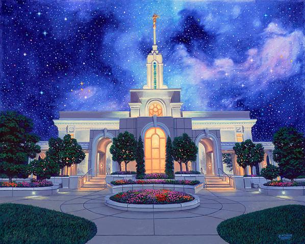 Between Heaven & Earth Mt Timpanogos Temple