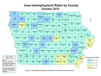 Iowa unemployment rate reaches 10-year low