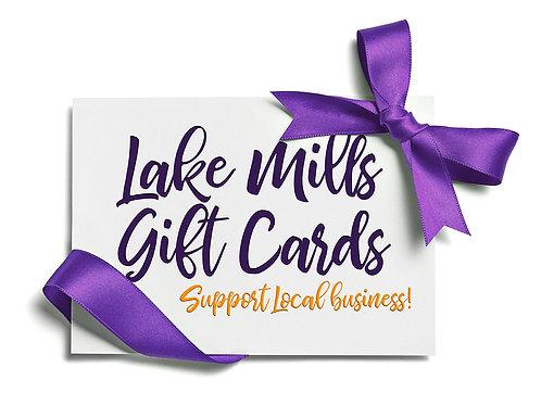 Lake Mills Gift Cards