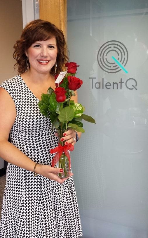 Renee Frey pictured at TalentQ's Open House, celebrating her brand new office location! Located at 1294 Hosford Street Suite C. Hudson, Wisc. 54016