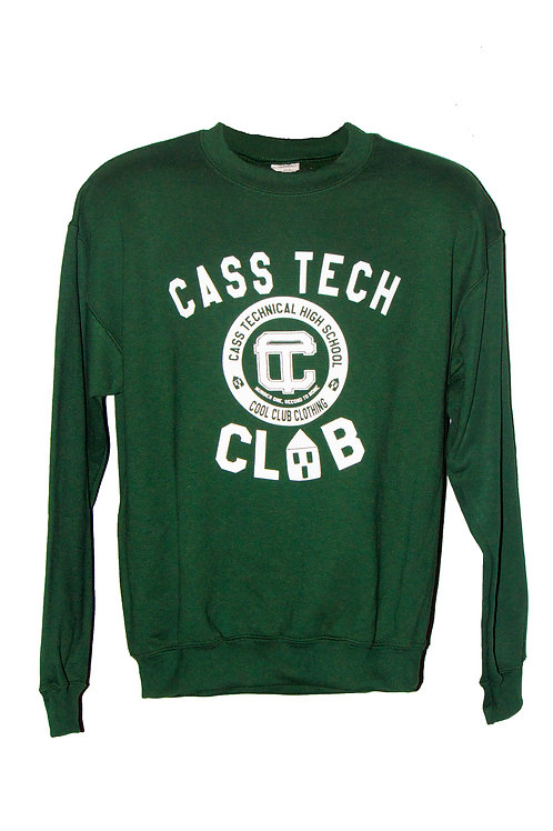 """Cass Tech CLUB"" Green Sweatshirt"
