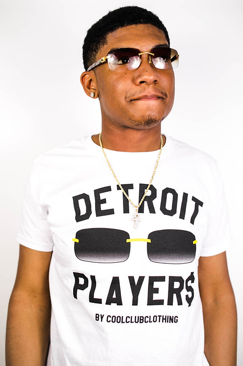 Black Buff Detroit Player$ Tee