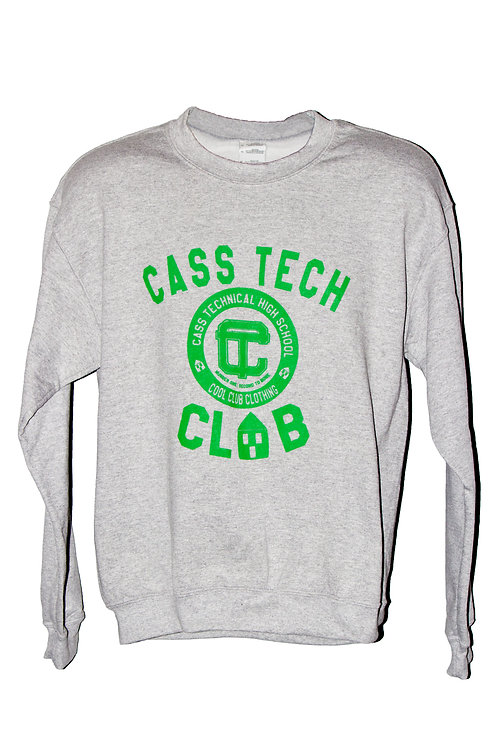 """Cass Tech CLUB"" Grey Sweatshirt"