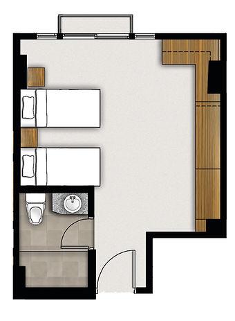 5880 Enriquez - Studio - Typical Floor Plan