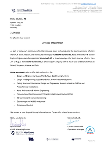 BLOM agent certificate - Marinetek South