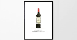 A personalised wine bottle for Fathers Day