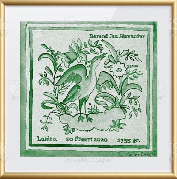 Dutch Birthtile Green