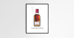 A personalized whiskey bottle
