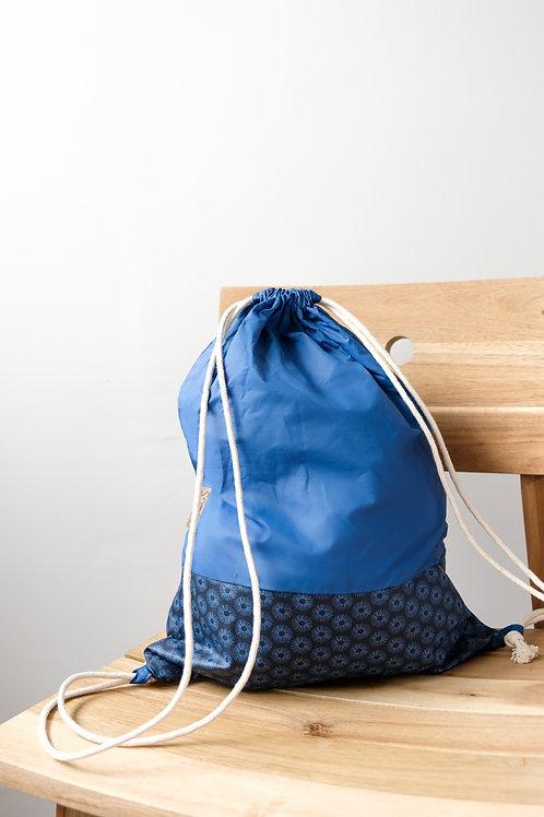 Sac de Sport Bleu à motifs Géométriques