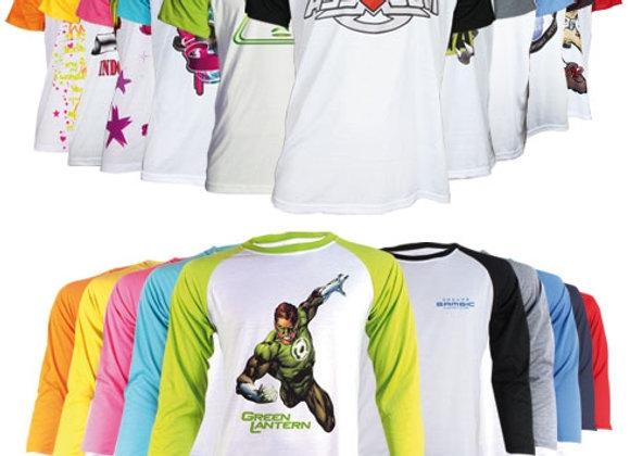 Tee-shirt manches courtes/longues bicolore