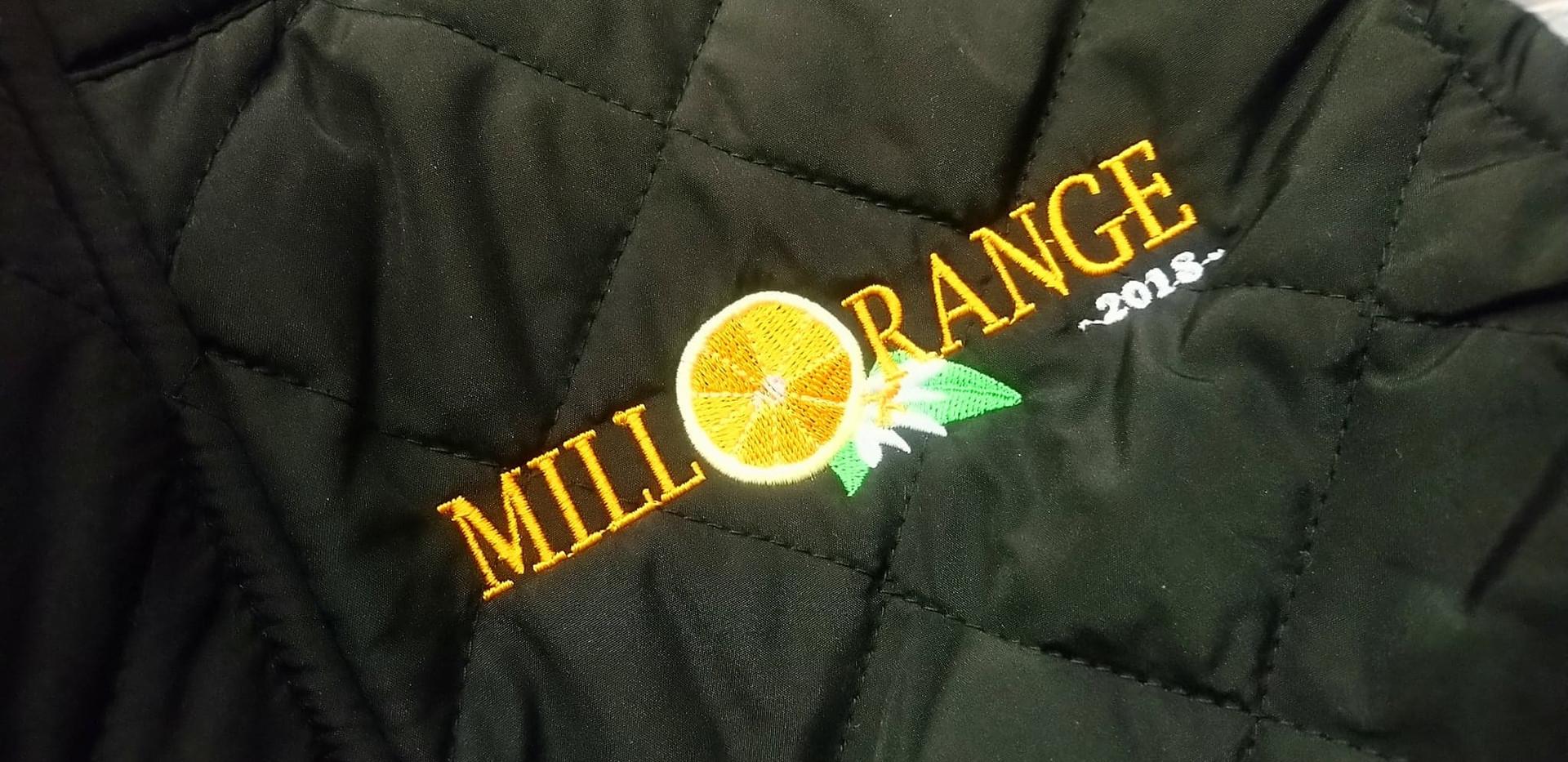 Broderie logo sur veste