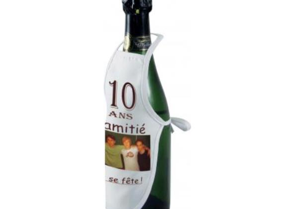 Tablier de vin bouteille