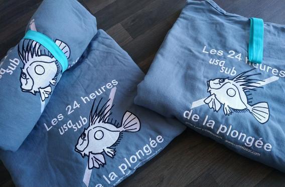 Broderie logos sur ponchos de plongée