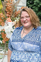 Melissa Huston at the William Paca house and gardens for a wedding