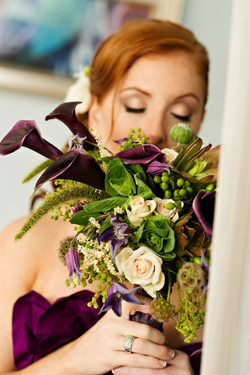 Purple Green bouquet