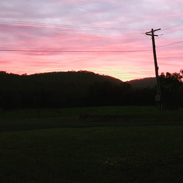 Sunset out here at _bundanonAIR