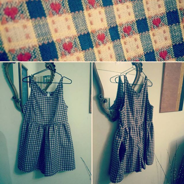 Getting together some things for #markets #sale in Feb like this playsuit I made a little too short