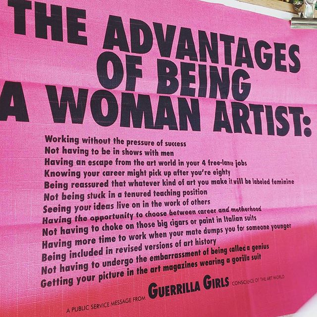 #advantages of being a #womanartist _D #guerillagirls #birthdaypresent from the awesome _lucasihlein