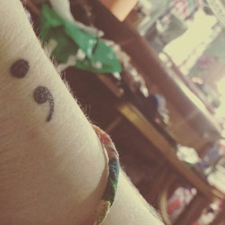 Still in love my first one _) #semicolontattoo