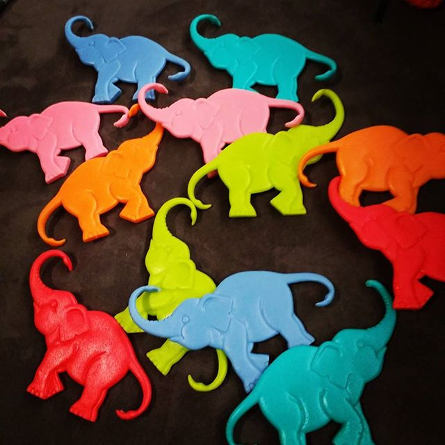 I have plastic #coloured #elephants