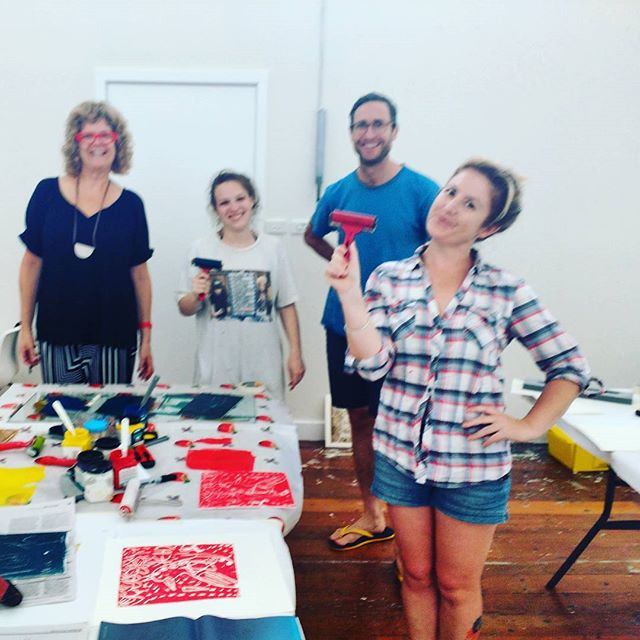Making some art in the print studio _bigfagpress _bundernonAIR with _daughtersopera _freyajobbins _a