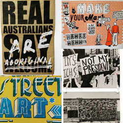 💘 this one #realaustraliansareaboriginal by _minigraff #streetart #makeyourmark  _thecrossartprojec