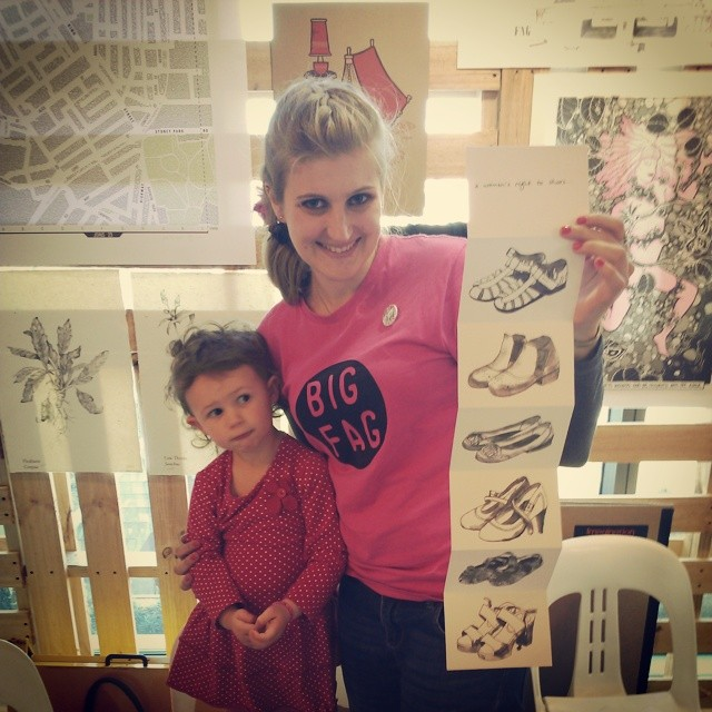 Me and Albie May with my zine at the #otherworldszinefair as part of _bigfagpress