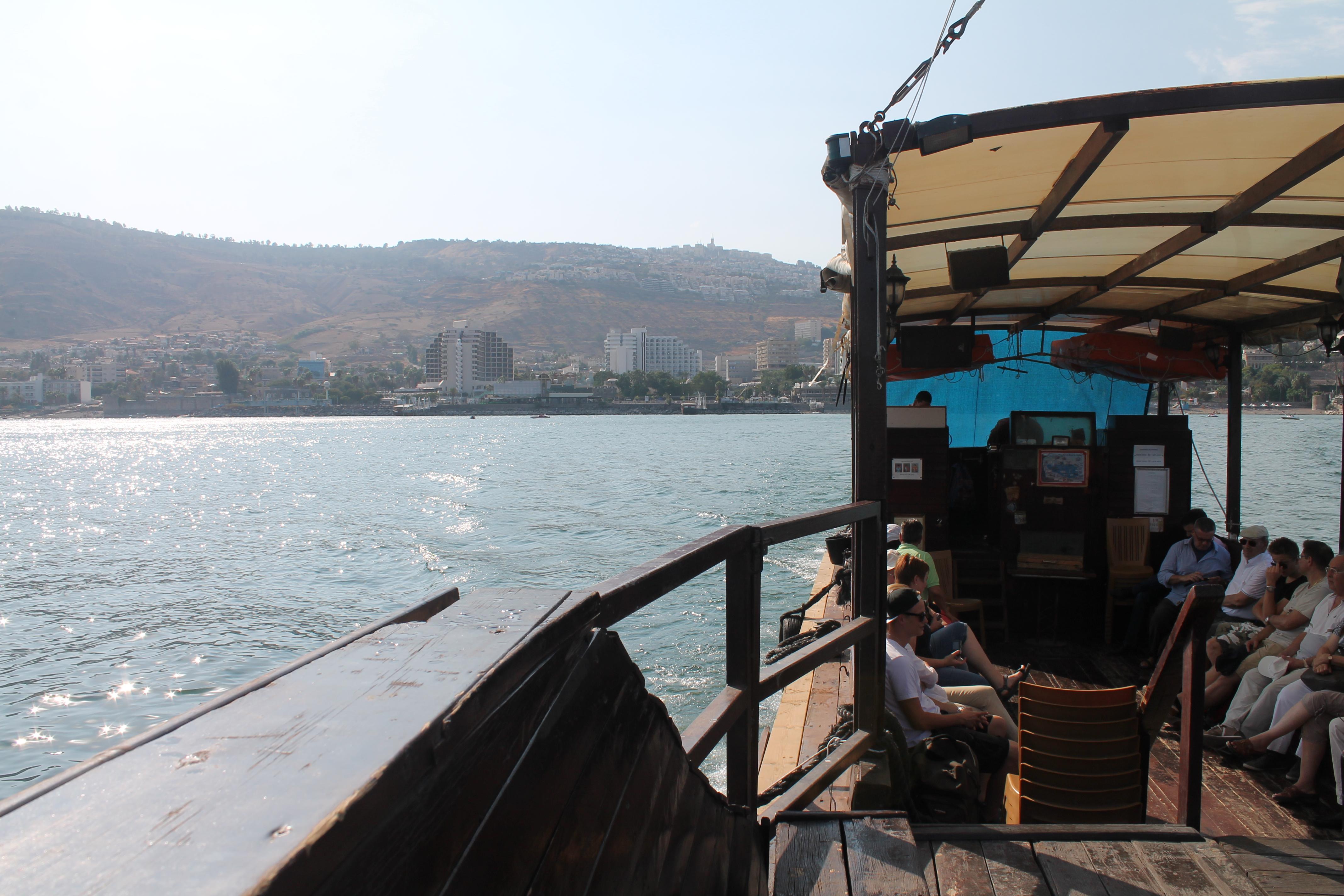 Bootsfahrt auf dem See Gennesaret