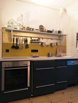 Küchenrückwand in Gold