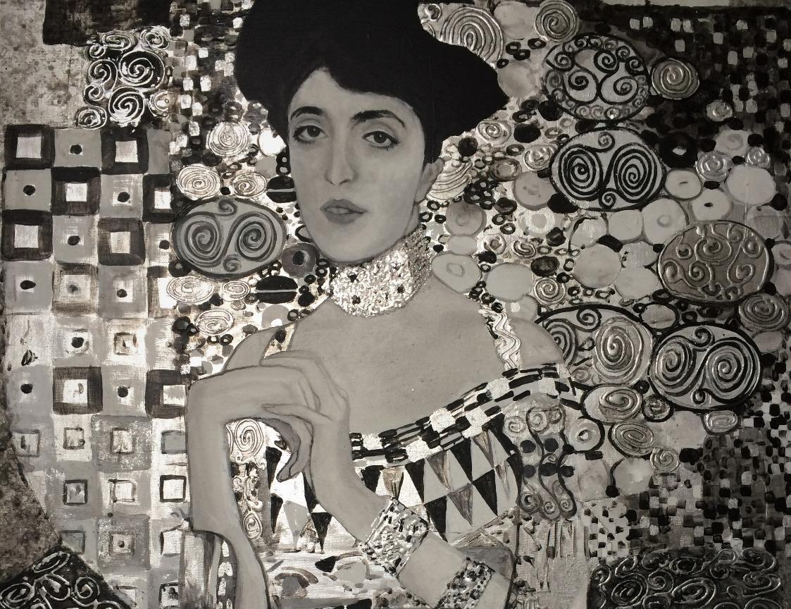 Klimt - Adele Bloch Bauer I - Detail
