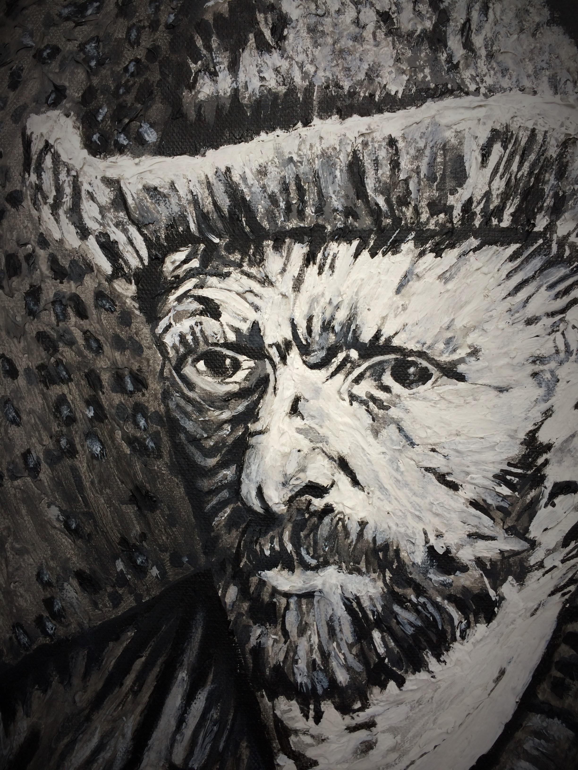 Van Gogh - Selbstbildnis - Detail