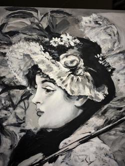 E. Manet - Der Frühling - Detail