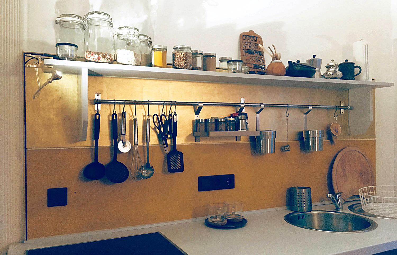 Küchenrückwand Gold (Schlagmetall)