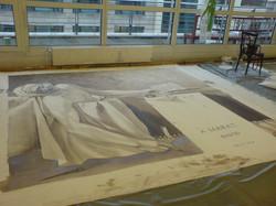 Prospektmalerei bei Entstehung Marat