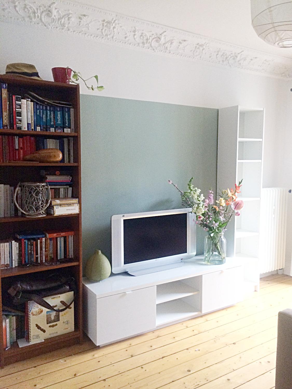 TV Wand Wandgrundierung