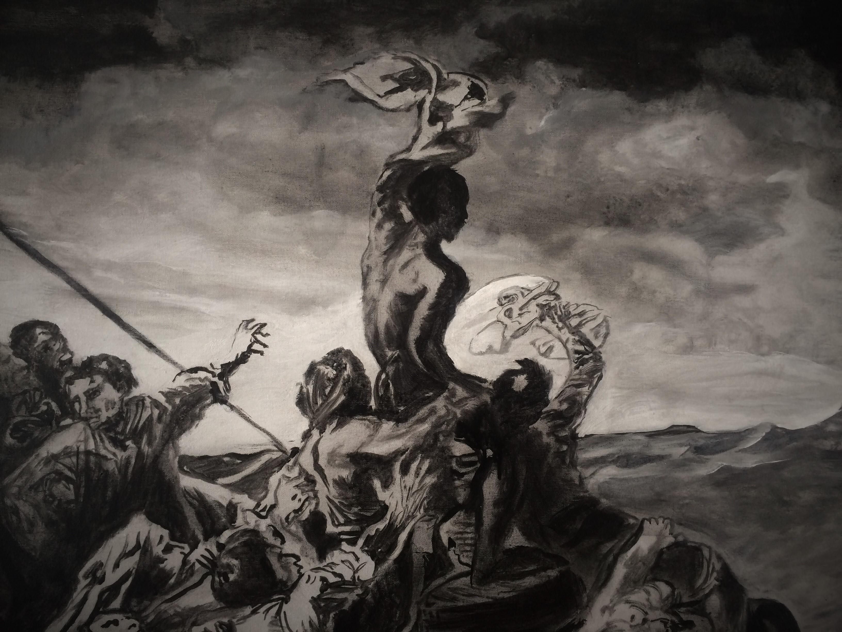 Géricault - Floß der Medusa - Detail