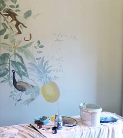 Wandmalerei nach Fotovorlage