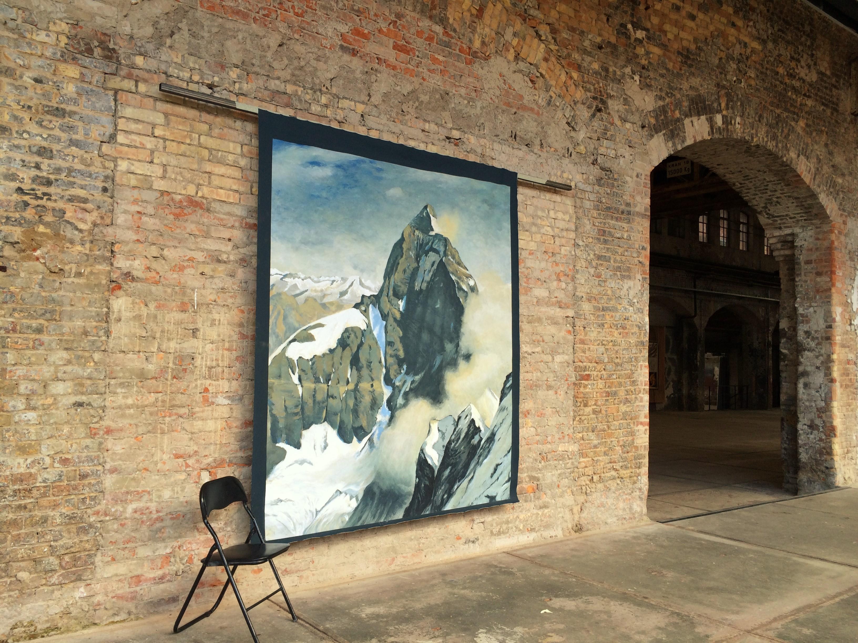 Matterhorn vor Backstein